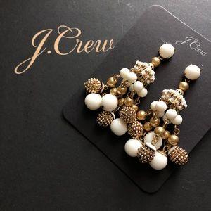 NWT J. Crew Beaded chandelier earrings